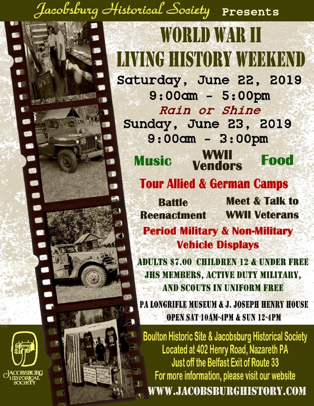 2019 Jacobsburg WWII Weekend Flyer copy